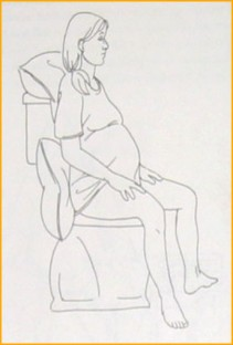 Sitting on the toilet often helps early pushing contractions become more coordinated.